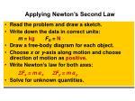 applying newton s second law
