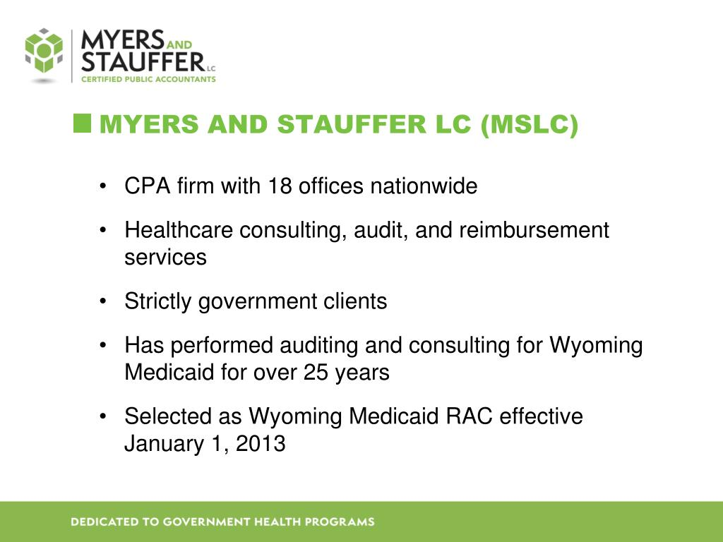 PPT - The Wyoming Medicaid Recovery audit contractor (RAC