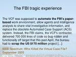 the fbi tragic experience