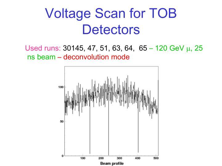 Voltage Scan for TOB Detectors