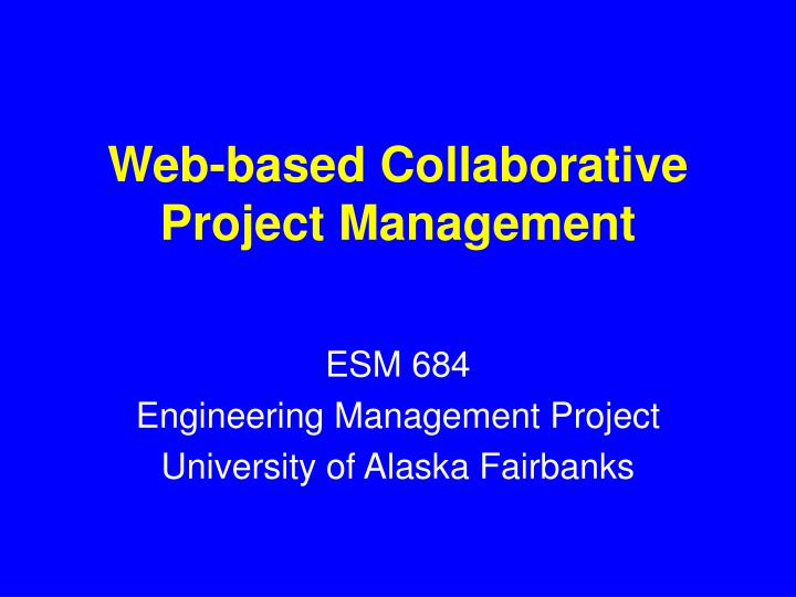 web based collaborative project management n.