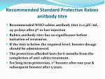 recommended standard protective rabies anitbody titre