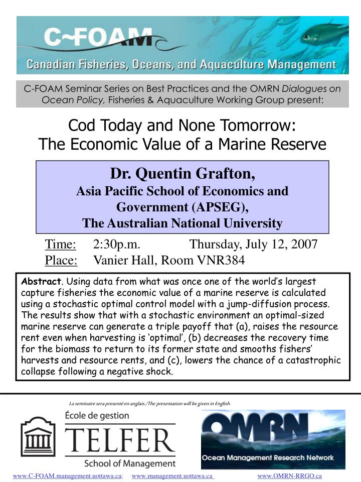 C-FOAM Seminar Series on Best Practices and the OMRN