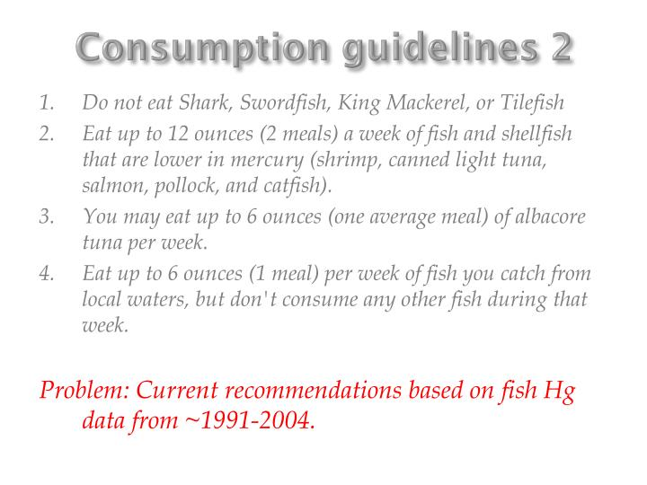 Consumption guidelines 2