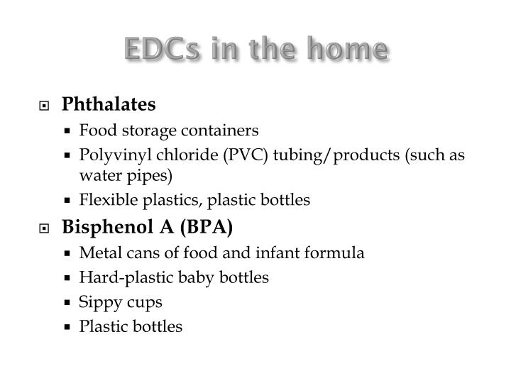 EDCs in the home