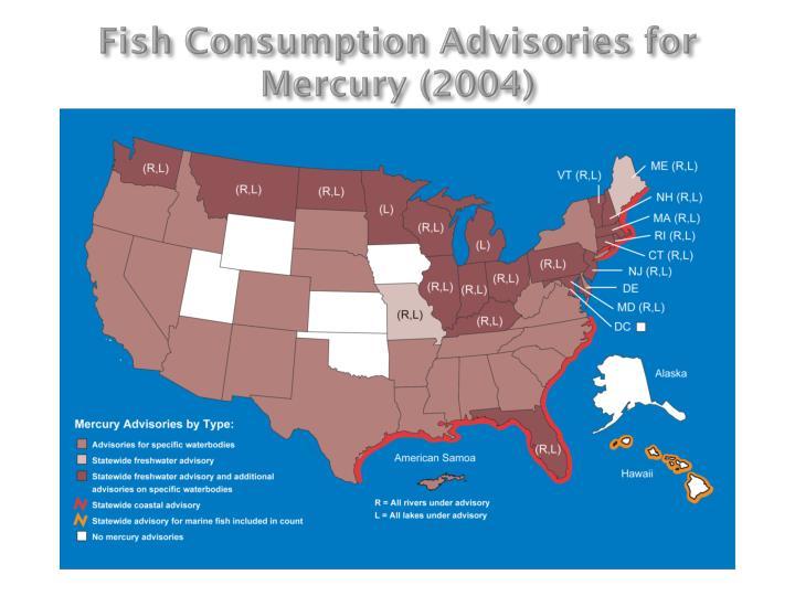 Fish Consumption Advisories for Mercury (2004)