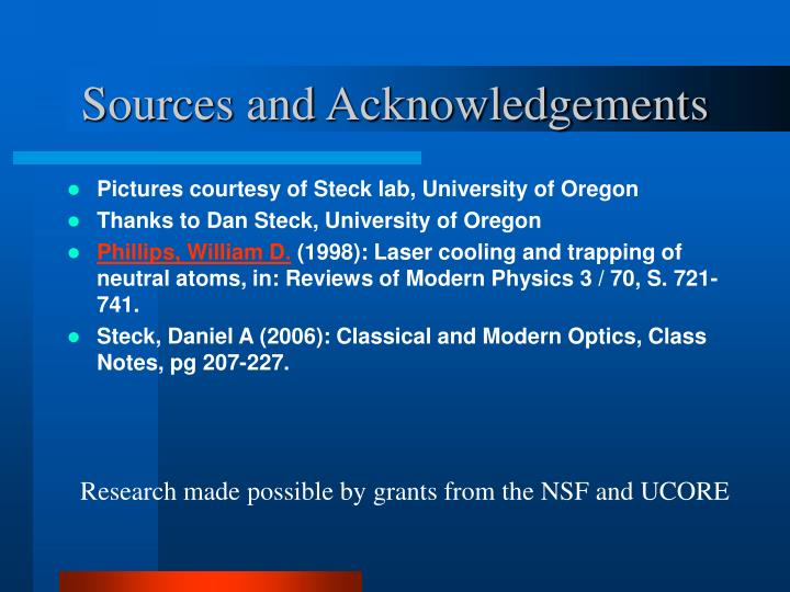 Sources and Acknowledgements