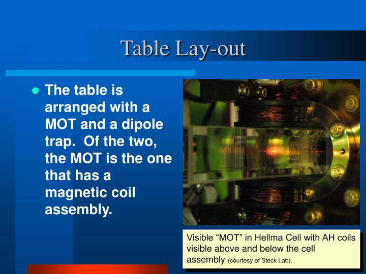 Table lay out
