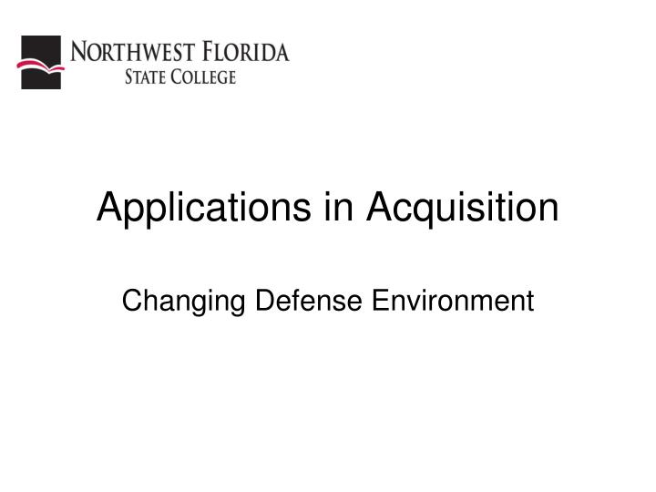 applications in acquisition n.