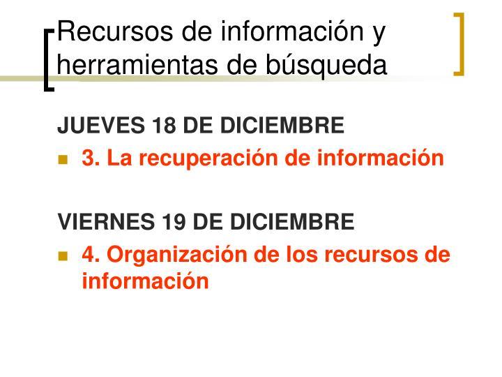 Recursos de informaci n y herramientas de b squeda1