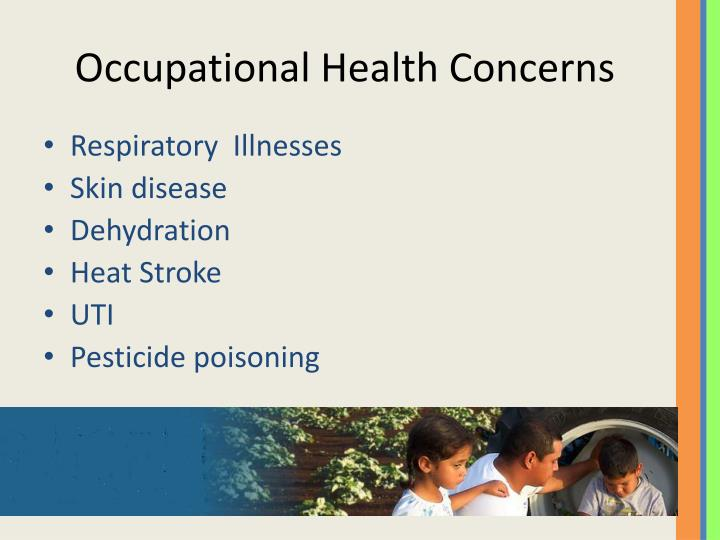 Occupational Health Concerns