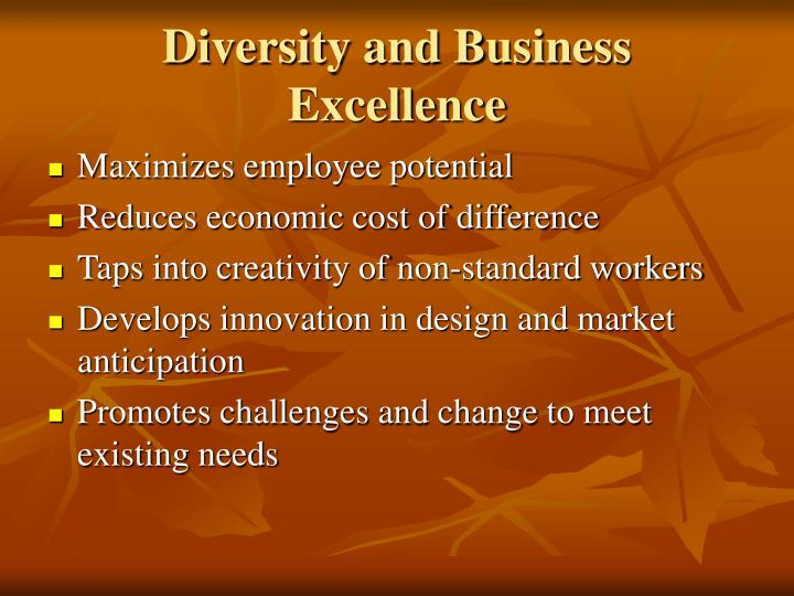 Diversity and Business Excellence