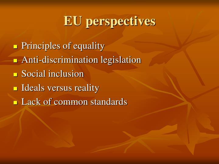 EU perspectives