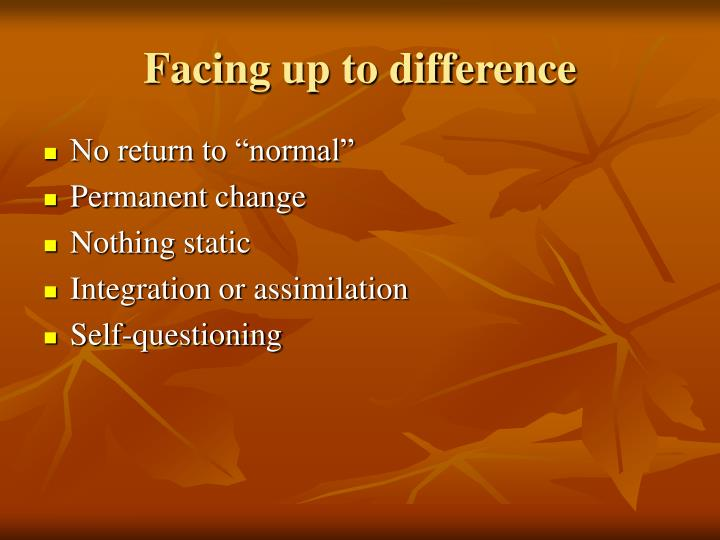 Facing up to difference