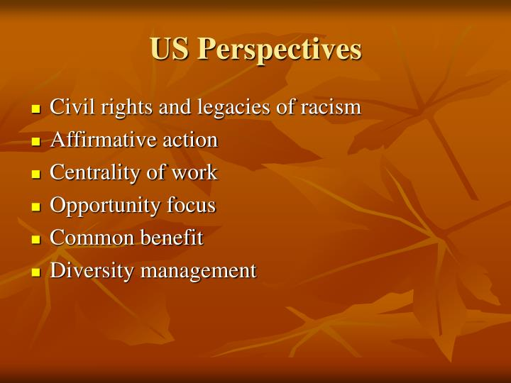 US Perspectives