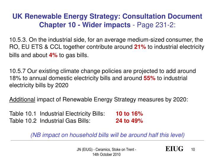 UK Renewable Energy Strategy: Consultation Document
