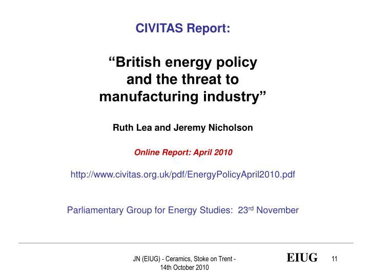 CIVITAS Report:
