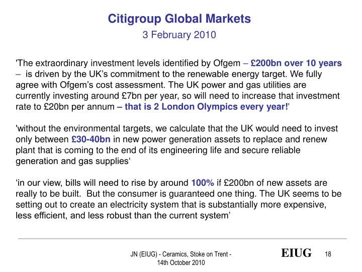 Citigroup Global Markets