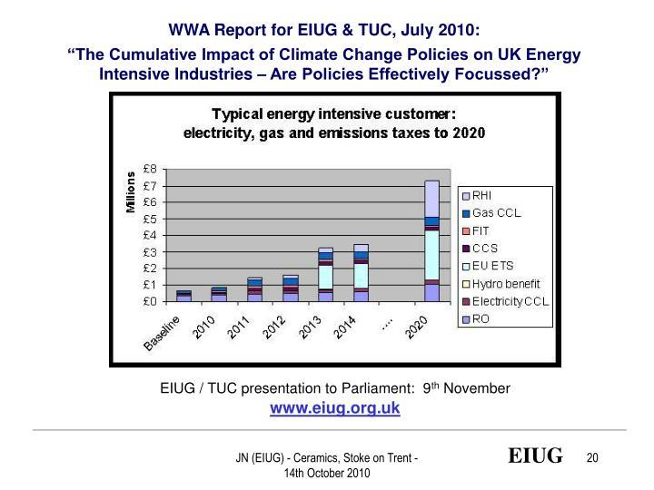 WWA Report for EIUG & TUC, July 2010: