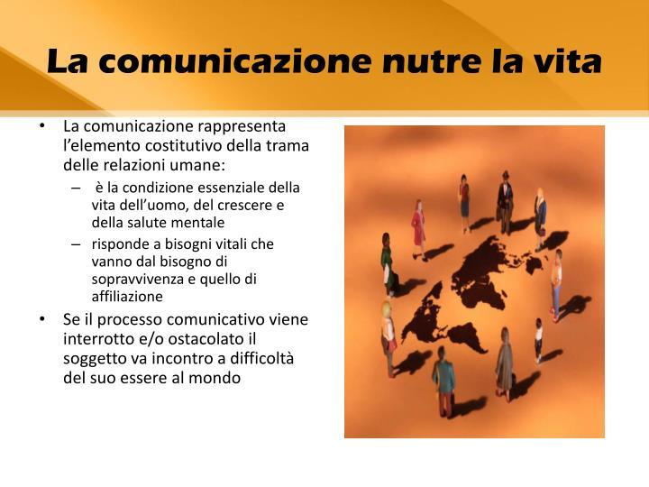 La comunicazione rappresenta l'elemento costitutivo della trama delle relazioni umane: