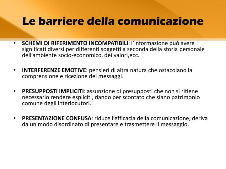 Le barriere della comunicazione