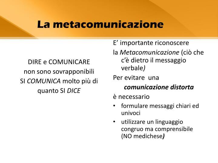 DIRE e COMUNICARE