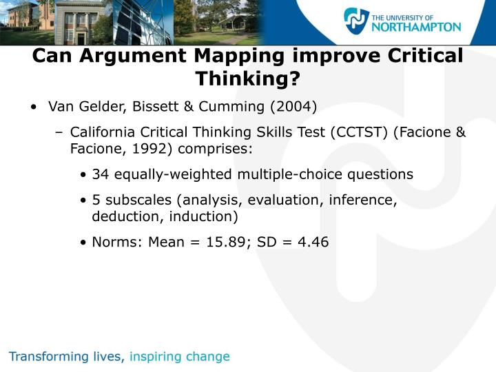 improve critical thinking Critical thinking skills are first learned in grade school and become even more significant as you go through college and your career critical thinking exercises also improve the development of your ability to control your emotions as well as how to use them to use them to your advantage.