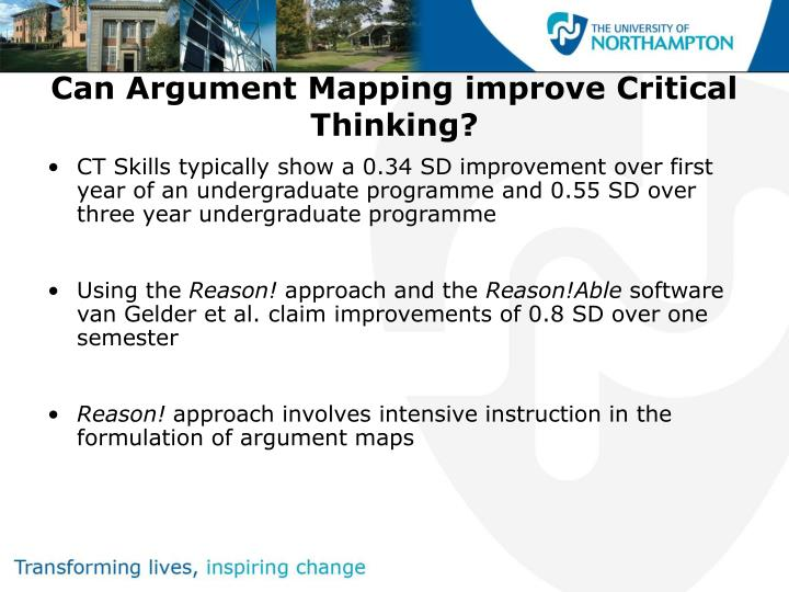 teaching and assessing critical thinking skills for argument analysis in psychology Ct skills assessed by california critical thinking skills test (cctst)  interpretation:  analysis: analytical reasoning skills enable people to identify  assumptions, reasons and claims, and to examine how they interact in the  formation of arguments we use  a taxonomy for learning, teaching, and  assessing: a revision.