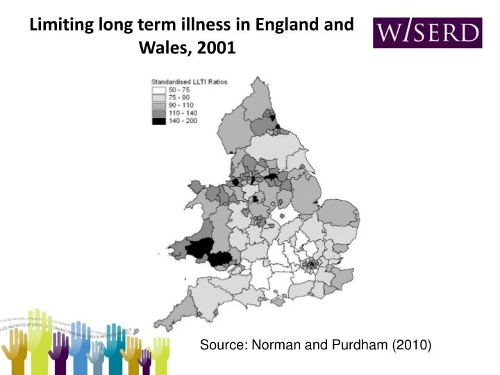 Limiting long term illness in England and Wales, 2001