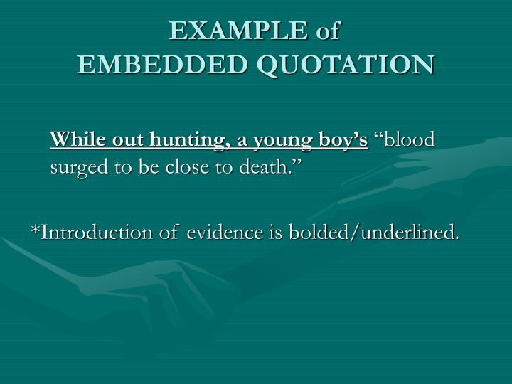 embedded quotation