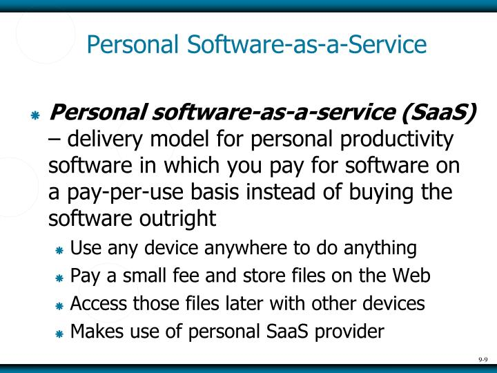 Personal Software-as-a-Service