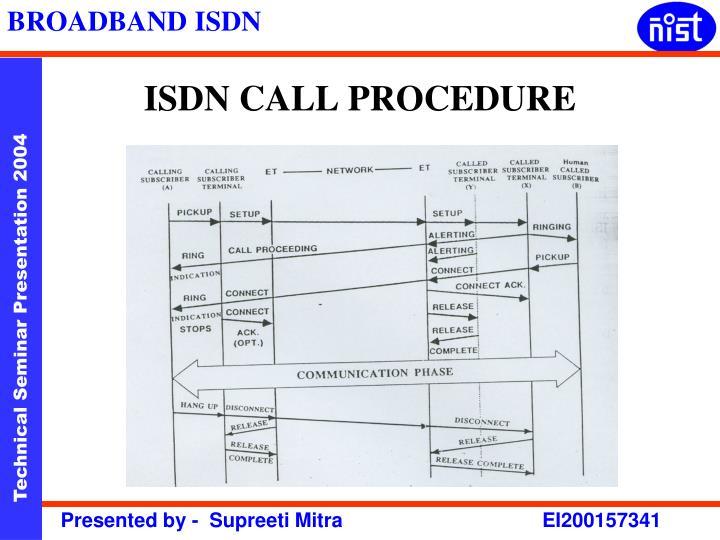 ISDN CALL PROCEDURE