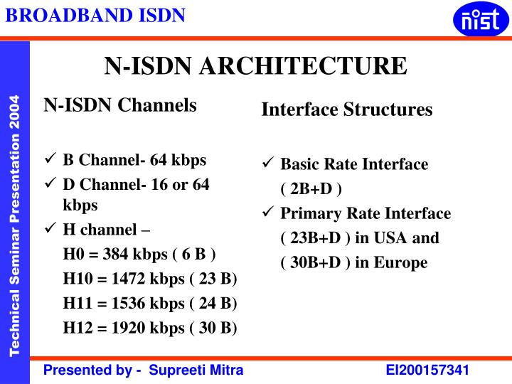 N isdn architecture