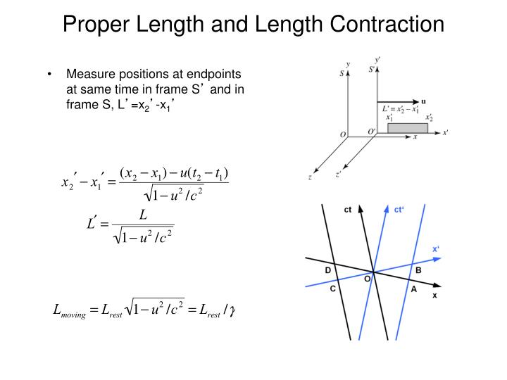 Proper Length and Length Contraction