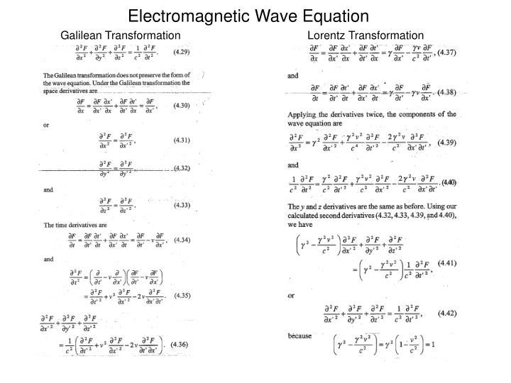 Electromagnetic Wave Equation