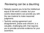 reviewing can be a daunting