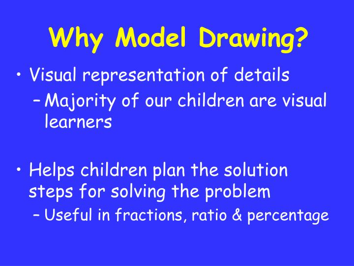 Why Model Drawing?