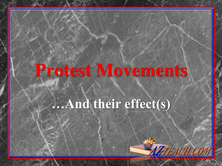 protest movements n.