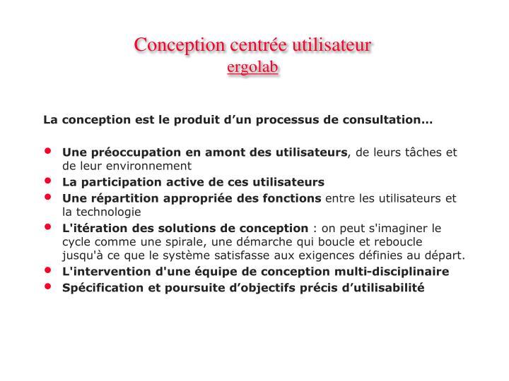 Conception centr e utilisateur ergolab