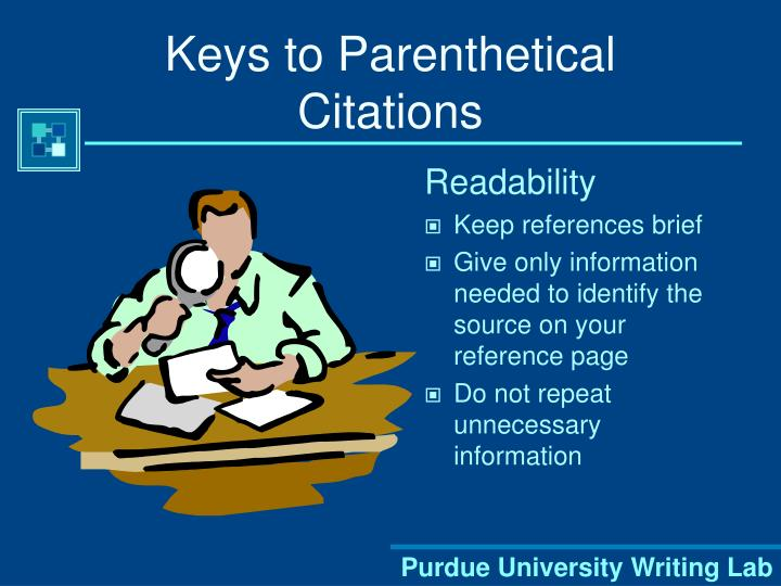Keys to Parenthetical Citations