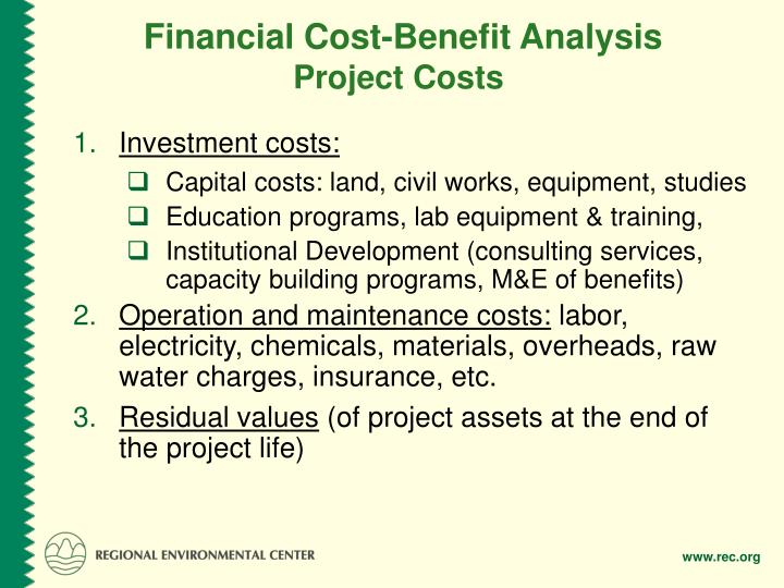 Financial Cost-Benefit Analysis