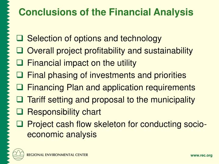 Conclusions of the Financial Analysis
