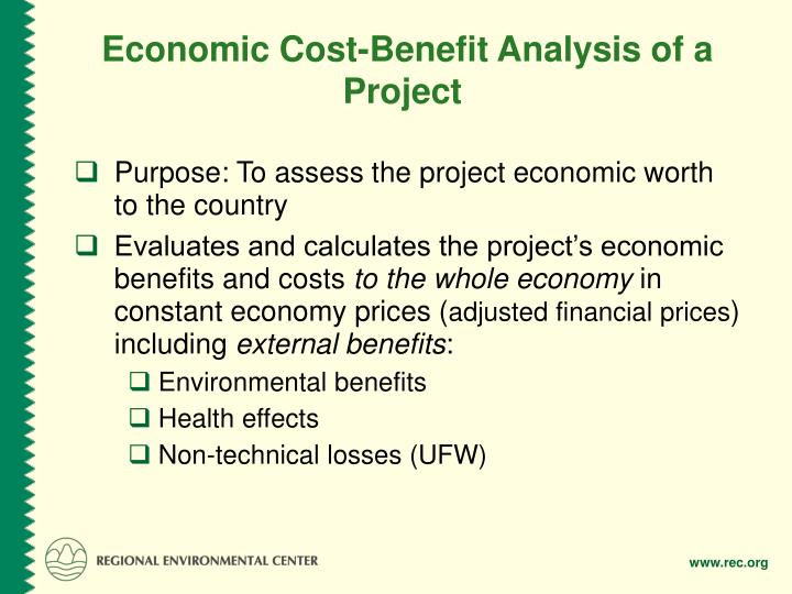 Economic Cost-Benefit Analysis of a Project