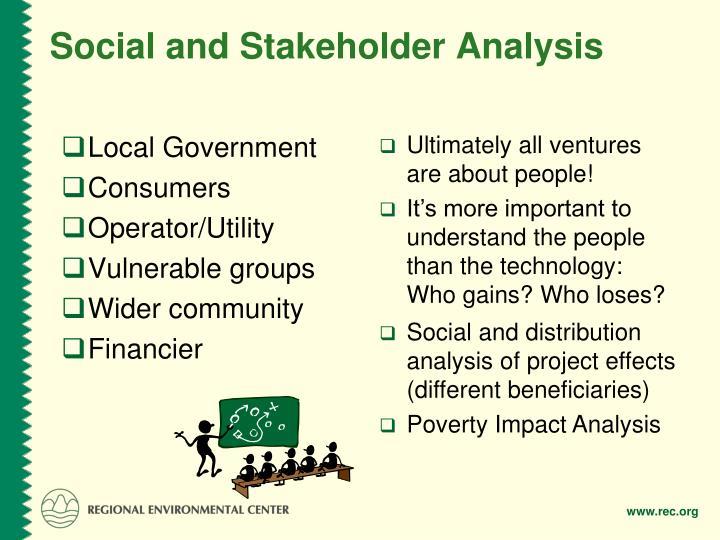 Social and Stakeholder Analysis