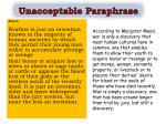 unacceptable p araphrase