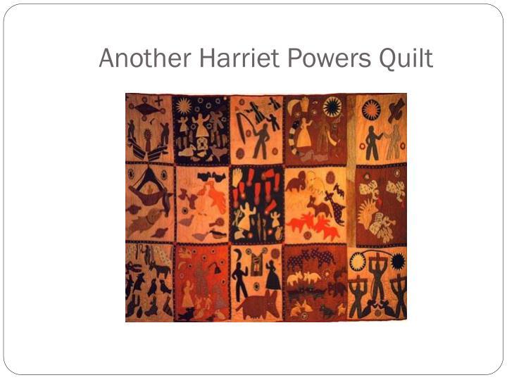 Another Harriet Powers Quilt