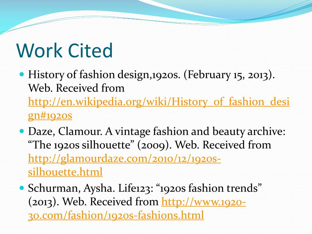 Ppt Fashion In The 1920s Powerpoint Presentation Free Download Id 6566956