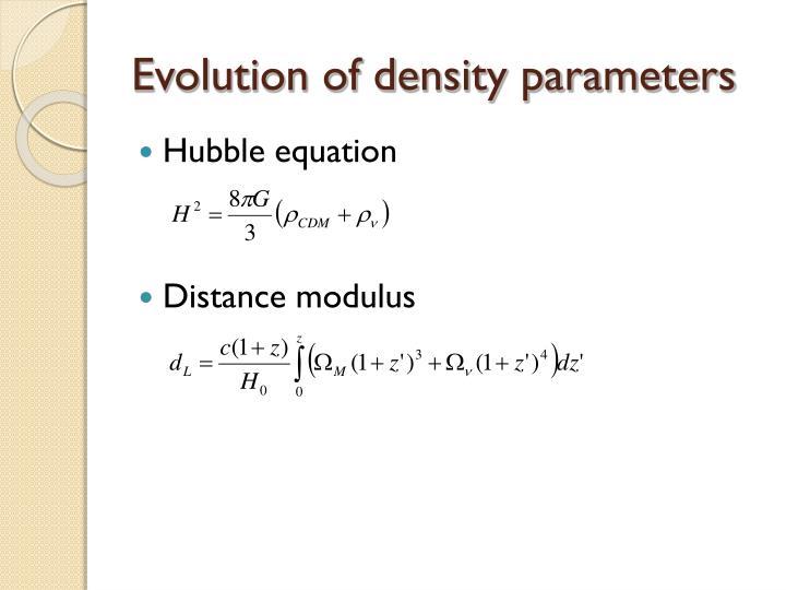 Evolution of density parameters