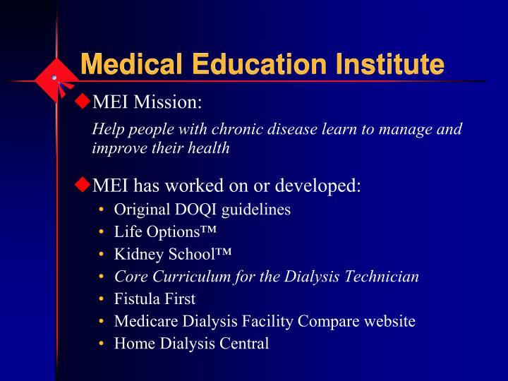 Medical education institute