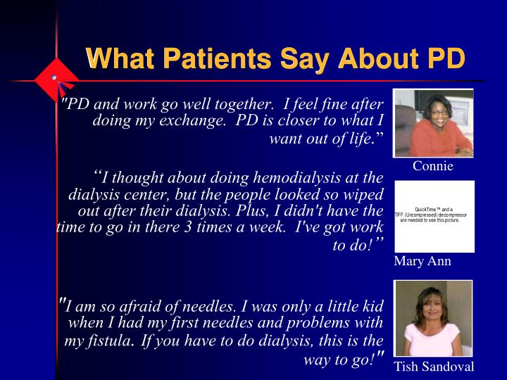 What Patients Say About PD